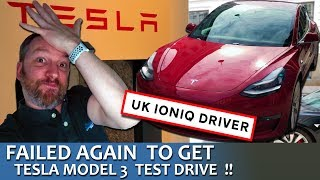 UK IONIQ Electric Driver Fails Yet Again To Test Tesla Model 3! (Denmark This Time)