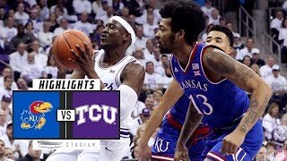 No. 14 Kansas vs. TCU Basketball Highlights (2018-19) | Stadium
