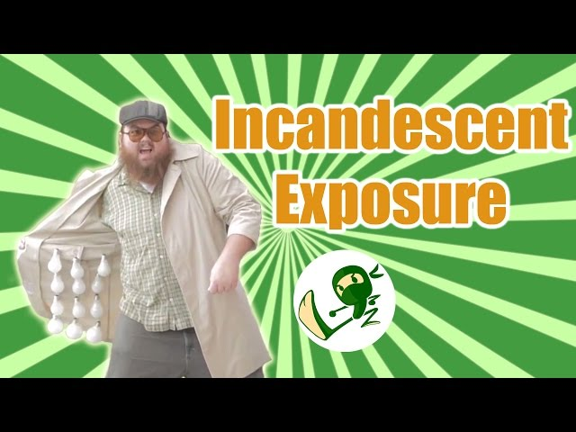 Incandescent Exposure: Street peddler selling incandescent bulbs