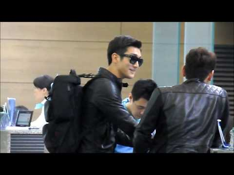 FANCAM 130504 Siwon @ Incheon Airport to NYC