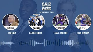 Cowboys, Dak Prescott, Lamar Jackson, Cole Beasley | UNDISPUTED Audio Podcast