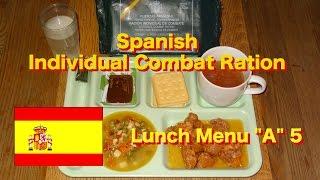 MRE Review: Spanish Individual Combat Ration Lunch Menu