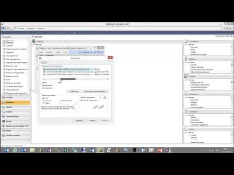 Nouvelle fonctionnalité - Microsoft Dynamics GP 2013 : Choix de l'imprimante