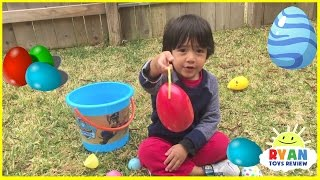 Easter Egg Hunt for Surprise Eggs and Kids Toys!