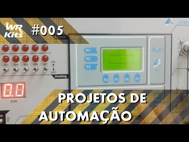 UTILIZANDO A IHM DO CLP ALTUS DUO | Projetos de Automação #005