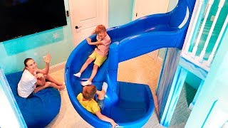 Vlad and Nikita Dream House with two Indoor Playgrounds for kids