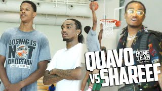 Quavo vs Shareef O'Neal! Part 1 - Hoop Session In Los Angeles