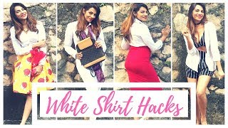 10 Ways To Style A Simple White Shirt !