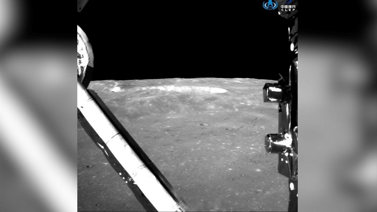 Видео посадки китайского модуля на обратную сторону Луны