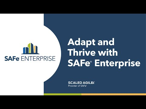 Watch this 2.5 minute video and learn how the SAFe® Enterprise subscription provides the training, collaboration, measurement, alignment, and self-service learning that organizations need to succeed.