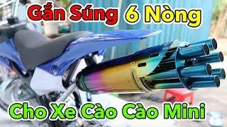 Lâm Vlog - Thử Độ Pô 6 Nòng Cho Xe Moto Cào Cào Mini   Pocket Bike for Kids $150