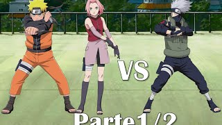 Naruto & Sakura vs Kakashi [Full Fight] Sub Español [Parte 1/2]
