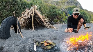 3 DAYS solo survival (NO FOOD, NO WATER, NO SHELTER) on an island with only a POCKET KNIFE.. EP 29