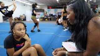 COACH CUSSED OUT CHEERLEADER DURING CHEERLEADING TRYOUTS FOR D2 SUMMIT!!!