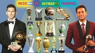 Neymar Jr Vs Lionel Messi All Trophies and Awards. Lionel Messi Vs Neymar Jr All Trophies and Awards