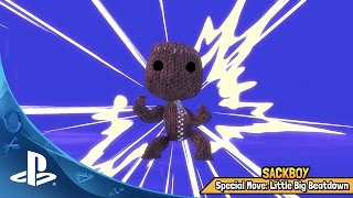Sackboy adds his costume to the quest
