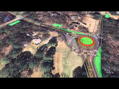 Simulation of Traffic Operations in 2035 at Hopewell Road/ Redd Road Intersection w/ Roundabout