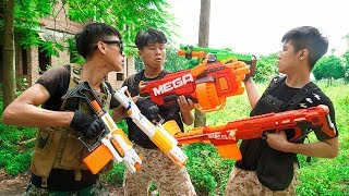 Battle Nerf War: Special Forces Nerf Guns Racer Team Mission Impossible Motorbike Chase