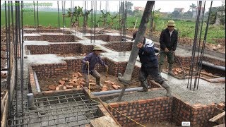 How To Accurately Pour Foundation Using Ready Mixed Concrete - Construction Of Foundation Beams