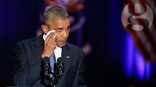 Barack Obama's final speech as president – video highlights