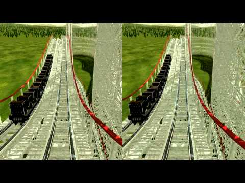3D Rollercoaster: Colossus - Need for Speed Pt.1 (3D for PC/3D phones/3D TVs/Crossed Eyes)