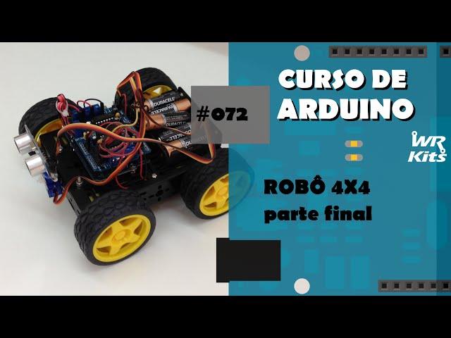 ROBÔ 4X4 COM MOTOR SHIELD (p2) | Curso de Arduino #072