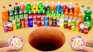 Mentos vs Coca Cola, Different Fanta, Sprite, Pepsi and Many other Popular Sodas in Underground