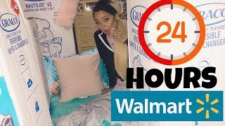 24 hour overnight challenge at walmart + we built 2 big forts