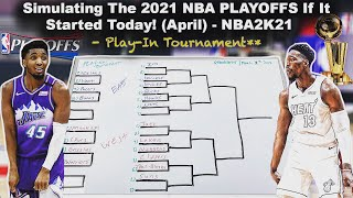 Starting The 2021 NBA Playoffs Today! Live Simulation On NBA2K21!