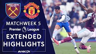 West Ham United v. Manchester United | PREMIER LEAGUE HIGHLIGHTS | 9/19/2021 | NBC Sports