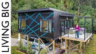 Stunning Modern Small Home Made From 3 x 20ft Shipping Containers
