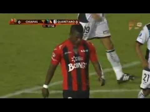 Franco Arizala gol 8 con Jaguares a2012 J6 24ago vs Queretaro