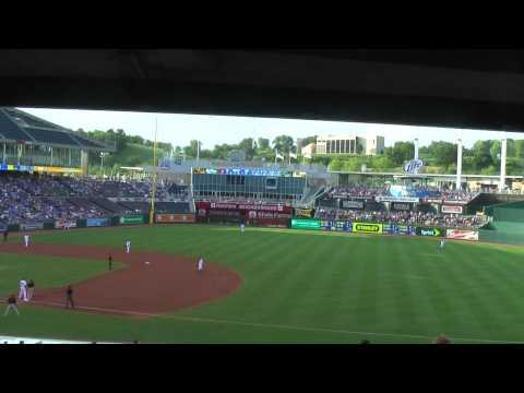 Kaufmann Stadium, Kansas City  (seat view) 07-31-2010