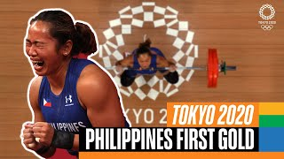 Philippines win their first ever gold medal! 🏋️♀️ | Tokyo Replays