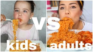 kids vs adults:mukbang
