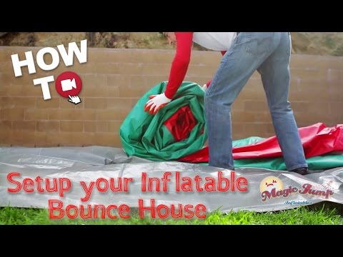 Setup your Commercial Inflatable: HOW TO | Magic Jump, Inc.