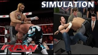 WWE 2K16 SIMULATION: Seth Rollins vs Dolph Ziggler | RAW 04/07/16 Highlights