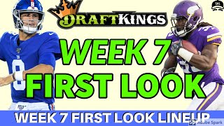 DRAFTKINGS NFL WEEK 7 FIRST LOOK LINEUP PICKS | NFL DFS PICKS STRATEGY