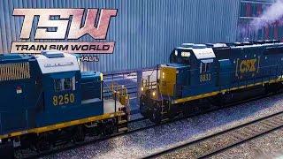 WHEN TRAINS CRASH! Train Cold Start + Turntable - Train Sim World:  CSX Heavy Haul Gameplay Ep 2