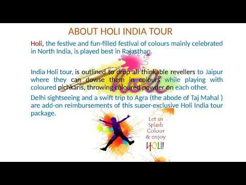 Holi Tour, Holi Festival India 2018,