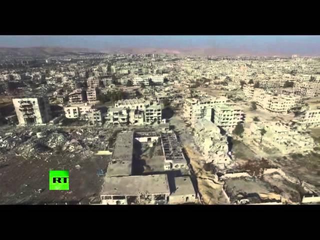 RT: Пригород Дамаска, где идут бои между армией Сирии и боевиками