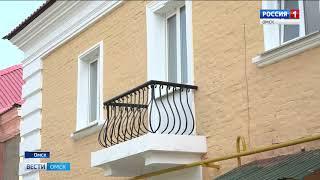 В Омске продолжается капитальный ремонт фасадов домов