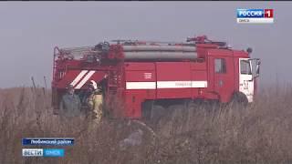 В Любинском районе уже почти месяц горит полигон твёрдых бытовых отходов