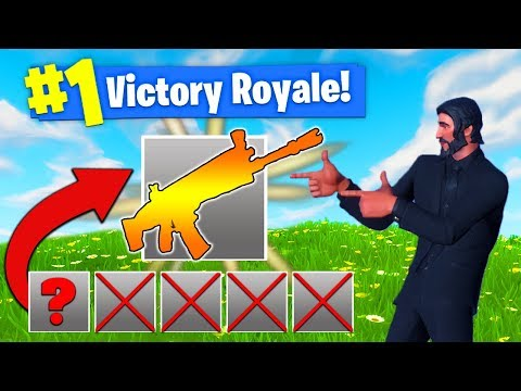 The *ONE GUN* CHALLENGE In Fortnite Battle Royale!
