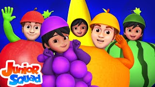 Fruits Song | Learn Fruits For Kids | Nursery Rhymes For Children By Junior Squad