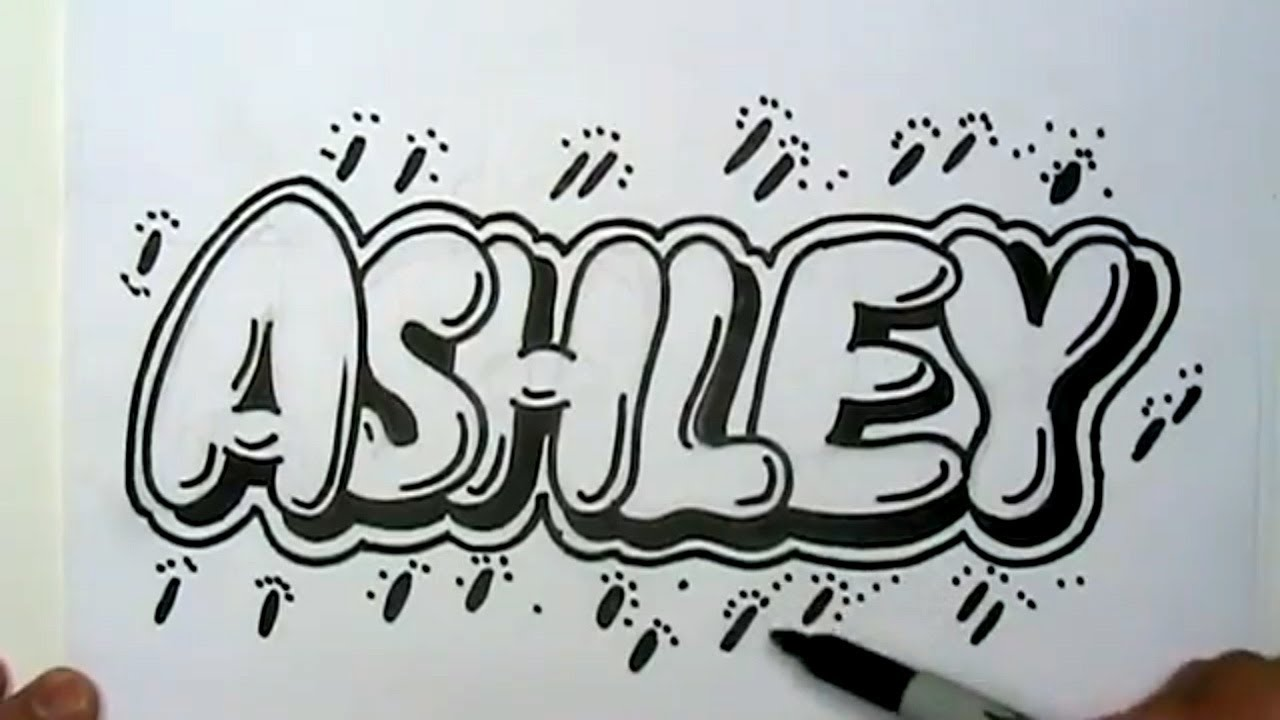 Name Drawings: How To Draw Ashley In Graffiti Letters