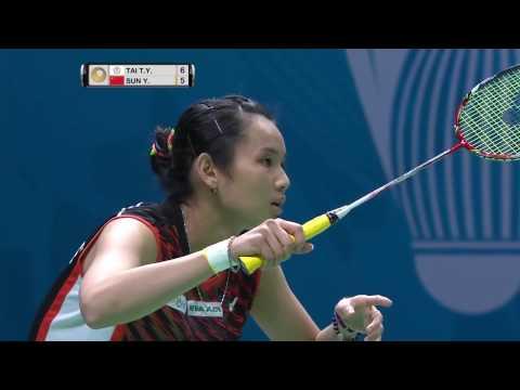 2016 Tai Tzu Ying vs Sun Yu - SS Dubai SF 戴資穎 v 孫瑜 迪拜世界羽联超级系列赛 四強賽
