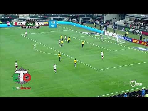 Mexico 3 goles vs Ecuador
