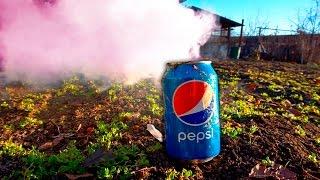 Быстрый способ как сделать дымовуху из PEPSI от первого лица.