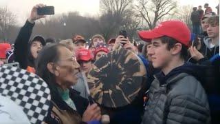 """Fake News Media spins story of MAGA teens """"mocking"""" Native American"""